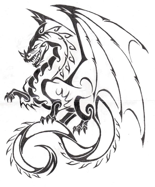 Simple Dragon Drawing: Dragons We Like