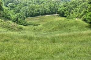 The Confederates held the top of this hill and the Union soldiers attempting the uphill climb were obliterated. Confederacy held.