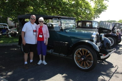 Greg and Miriam Kresge with her old car