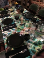 Tie dye table
