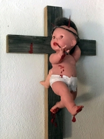 3-Legged Devil Baby Jesus Escapes the Cross